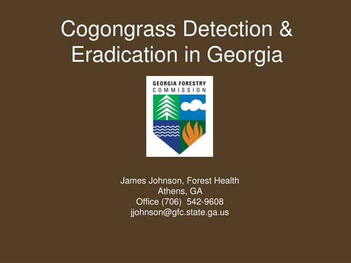 Cogongrass detection eradication in georgia
