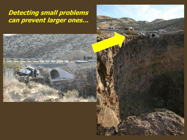 Detecting small problems can prevent larger ones…