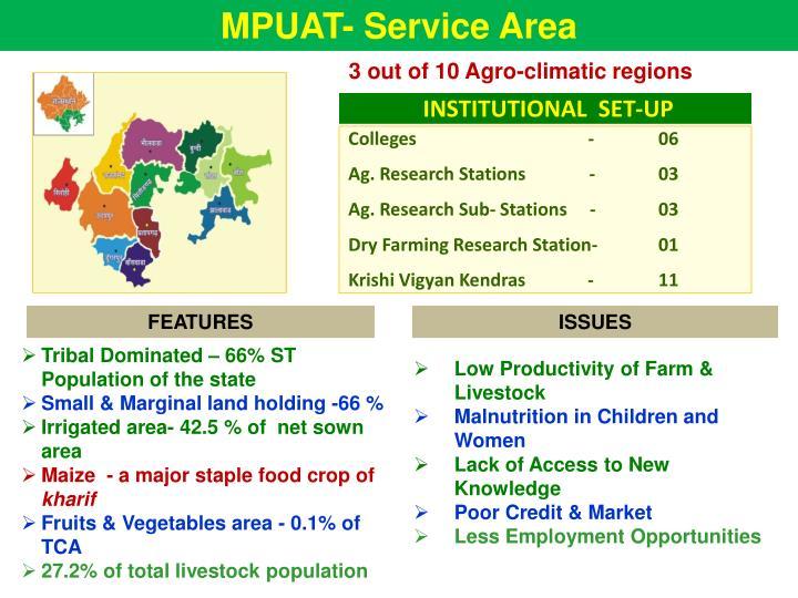 MPUAT- Service Area