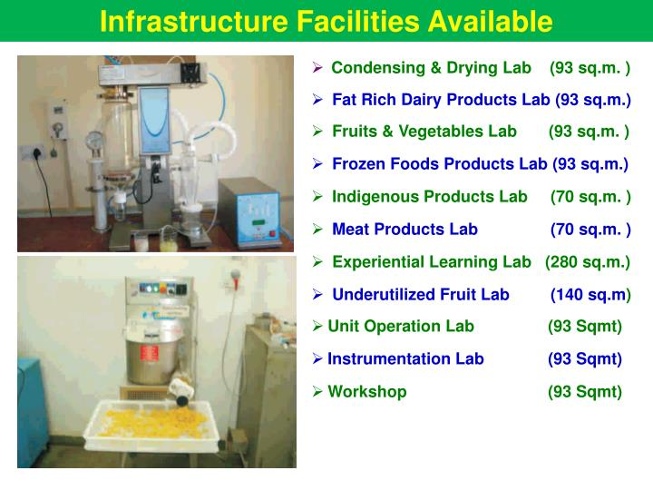 Infrastructure Facilities Available