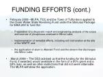 funding efforts cont