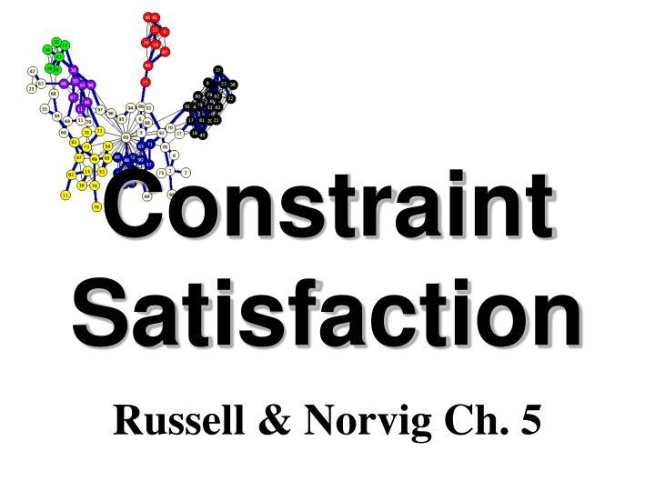 constraint satisfaction n.
