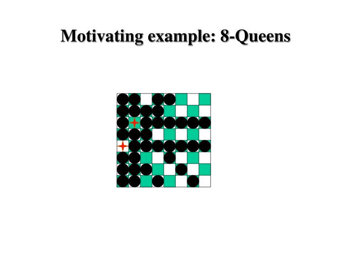 Motivating example: 8-Queens