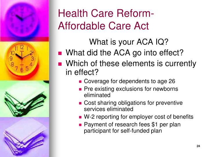 Health Care Reform-