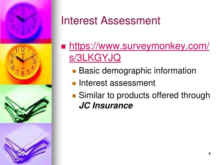 Interest Assessment