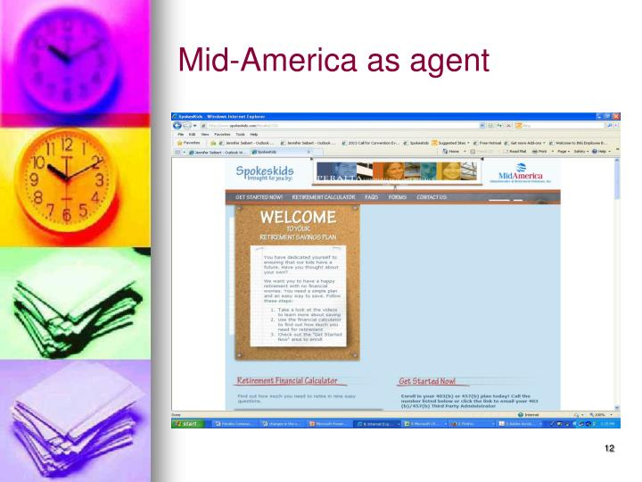 Mid-America as agent