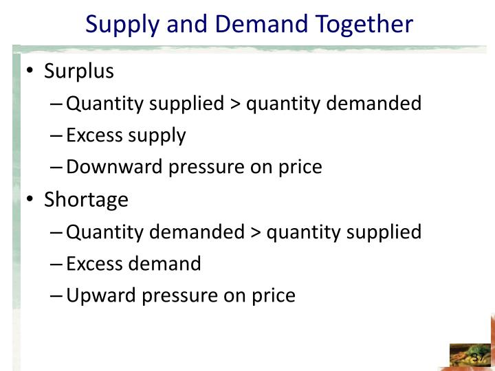 Supply and Demand Together