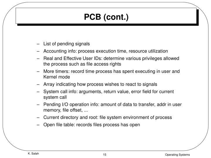 PCB (cont.)