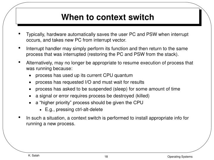 When to context switch