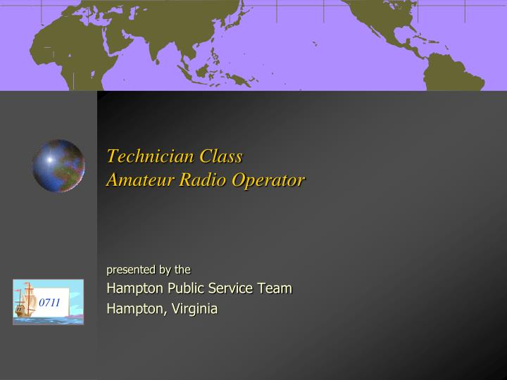 technician class amateur radio operator n.