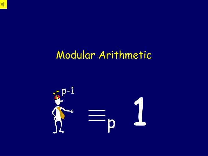 modular arithmetic n.