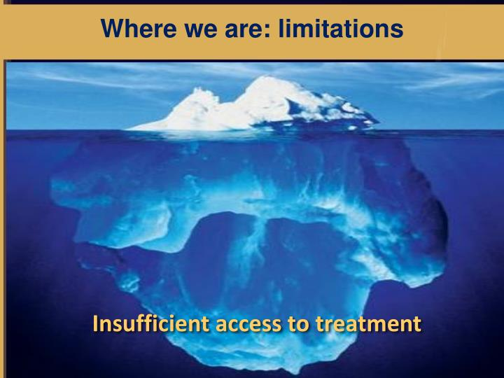 Where we are: limitations