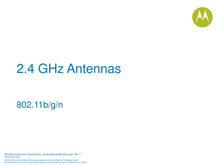 2.4 GHz Antennas