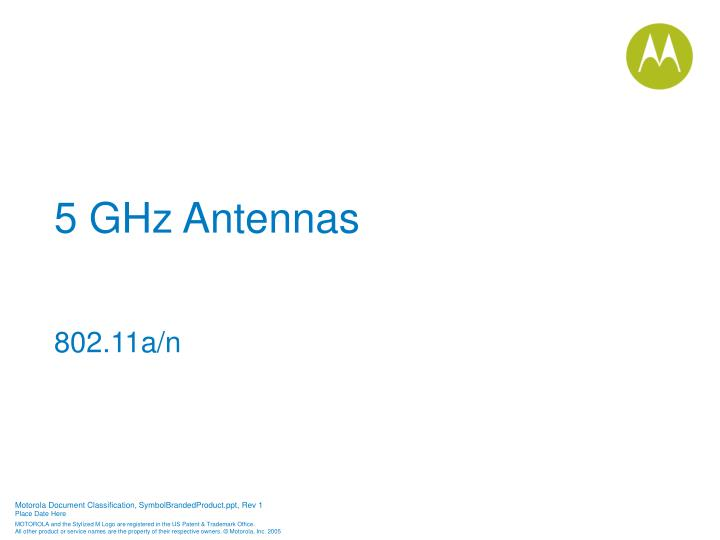5 GHz Antennas
