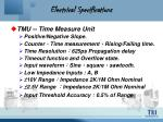 electrical specifications13