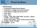 electrical specifications16