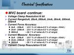 electrical specifications21