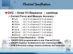 electrical specifications4