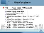 electrical specifications5