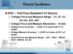 electrical specifications7