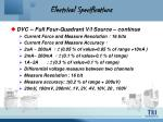 electrical specifications8