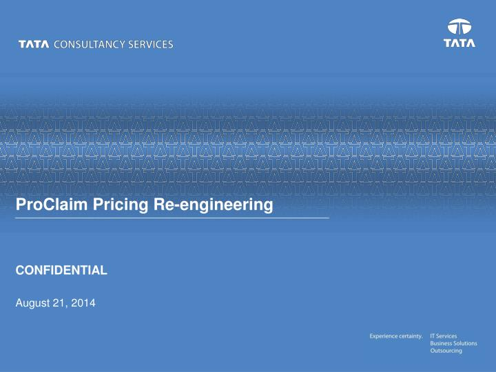 proclaim pricing re engineering n.