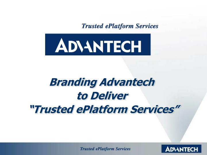 Branding Advantech
