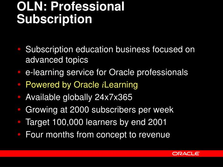 OLN: Professional Subscription