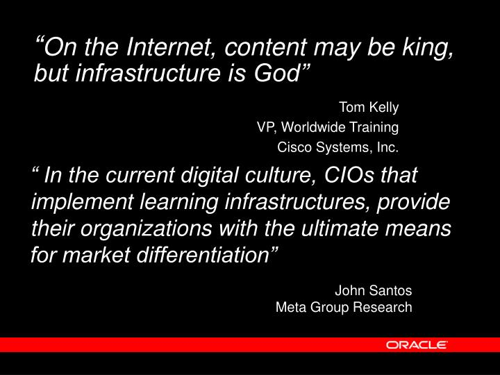 On the internet content may be king but infrastructure is god
