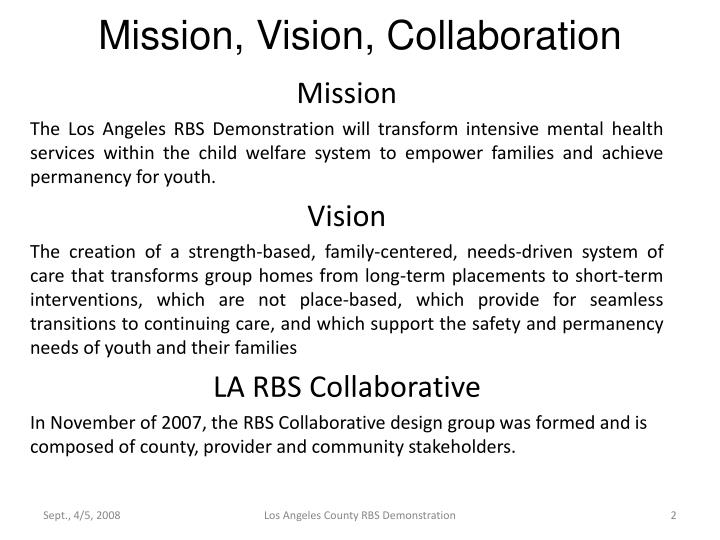 Mission vision collaboration