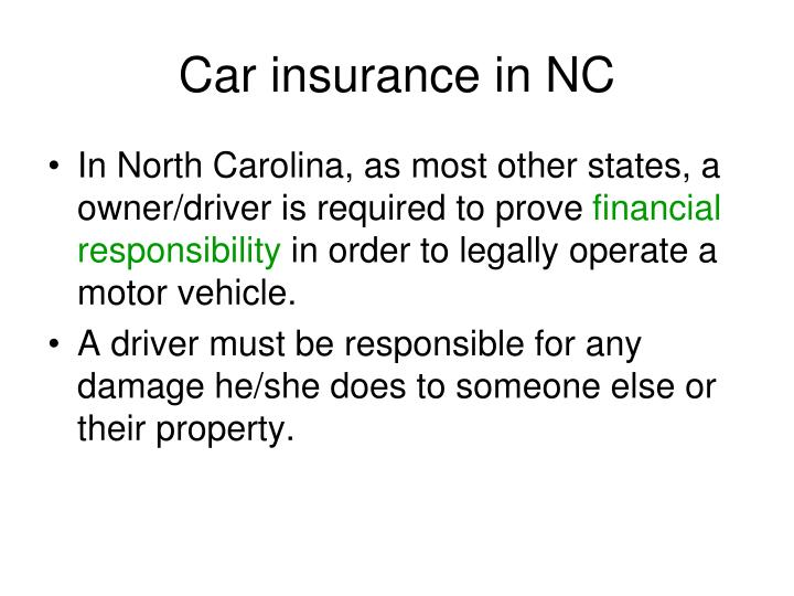 Car insurance in NC