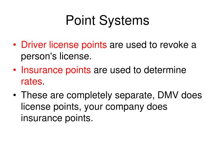 Point Systems