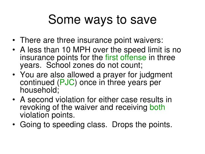 Some ways to save