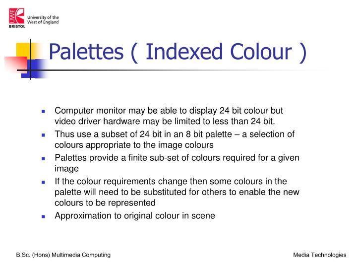 Palettes ( Indexed Colour )