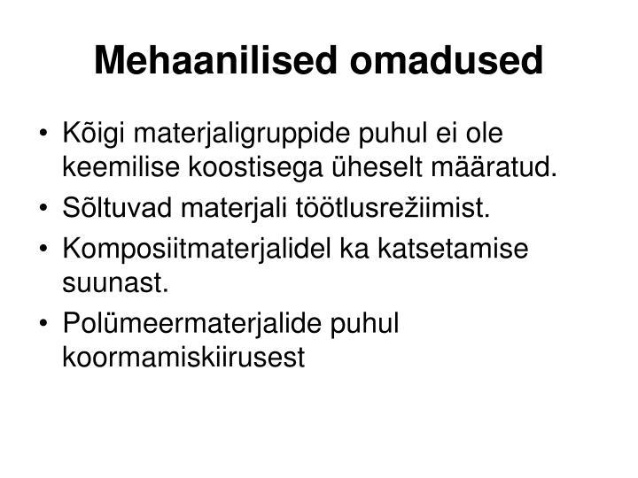 Mehaanilised omadused