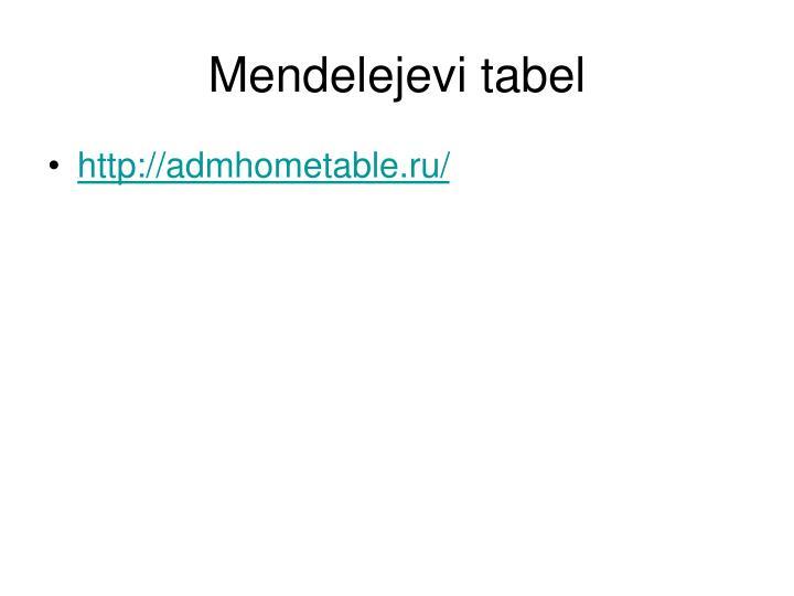 Mendelejevi tabel