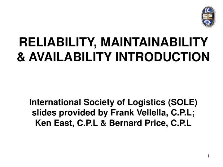 reliability maintainability availability introduction n.