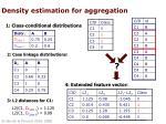 density estimation for aggregation