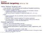 example network targeting hill et al 06
