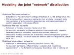 modeling the joint network distribution