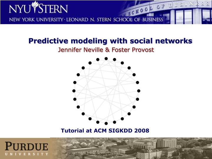 predictive modeling with social networks n.