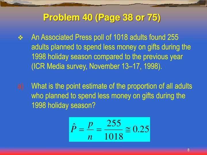 Problem 40 (Page 38 or 75)