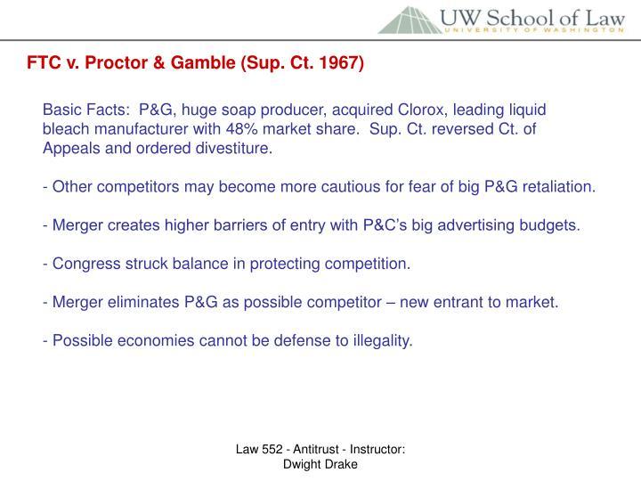 FTC v. Proctor & Gamble (Sup. Ct. 1967)