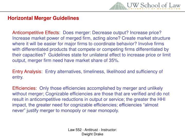 Horizontal Merger Guidelines