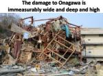 the damage to onagawa is immeasurably wide and deep and high