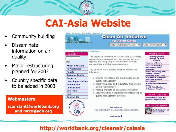 CAI-Asia Website