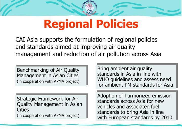 Regional Policies