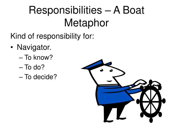 Responsibilities – A Boat Metaphor