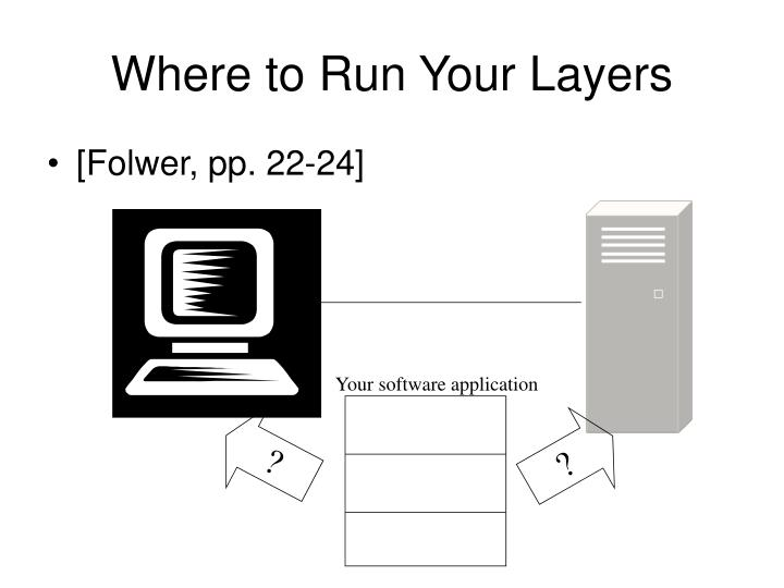 Where to Run Your Layers