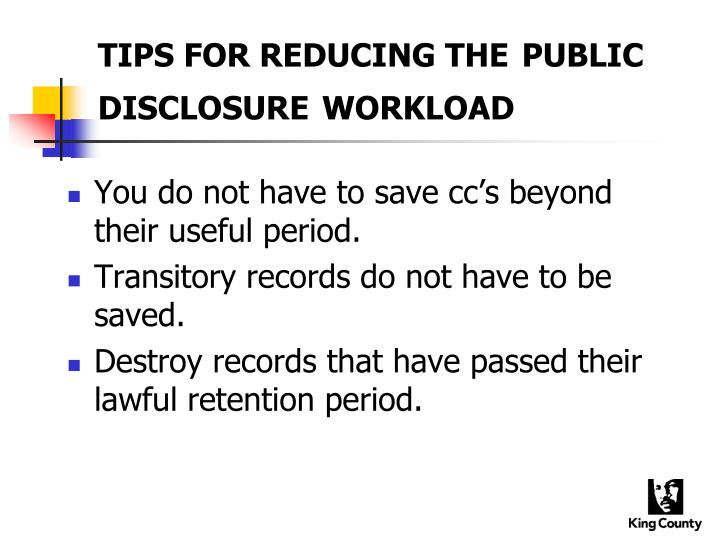 TIPS FOR REDUCING THE